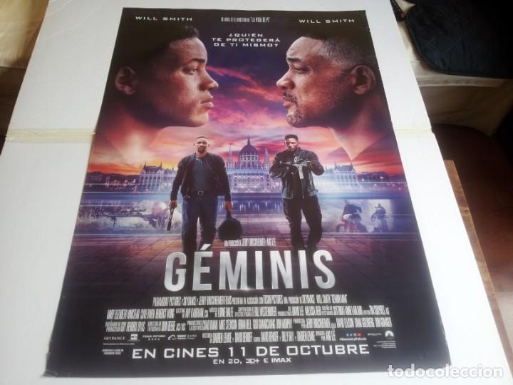 GEMINIS - WILL SMITH, CLIVE OWEN, MARY ELIZABETH WINSTEAD - CARTEL ORIGINAL UNIVERSAL AÑO 2019 (Cine - Posters y Carteles - Acción)
