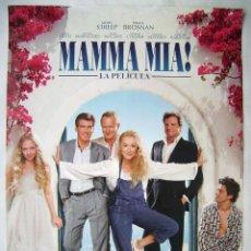 Cine: MAMMA MÍA, CON MERYL STREEP. PÓSTER, 68,5 X 98 CMS.. Lote 219339541