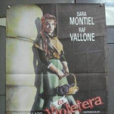 Cine: CDO 4832 LA VIOLETERA SARA MONTIEL POSTER ORIGINAL 70X100 ESPAÑOL R-80S. Lote 219345671