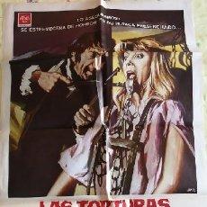 Cinema: LAS TORTURAS DE LA INQUISICIÓN. CARTEL ORIGINAL.MICHAEL ARMSTRONG, ADRIAN HOVEN, HERBERT LOM. Lote 219360276