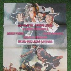 Cine: CARTEL CINE, HASTA QUE LLEGO SU HORA, HENRY FONDA. CLAUDIA CARDINALE, CHARLES BRONSON, 1969, C415. Lote 219389852