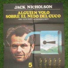 Cinéma: CARTEL CINE ALGUIEN VOLO SOBRE EL NIDO DEL CUCO JACK NICHOLSON C1819. Lote 219392246