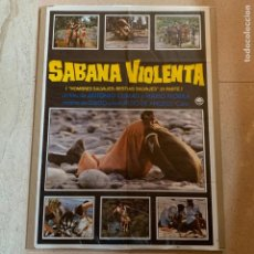 Cine: PÓSTER SABANA VIOLENTA - CARTEL CINE HOMBRES SALVAJES, BESTIAS SALVAJES 2 - 1979 - 70CM X 100CM. Lote 219410790
