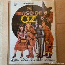 Cine: PÓSTER EL MAGO DE OZ JUDY GARLAND POSTER ORIGINAL - 1982 - 70CM X 100CM. Lote 270931573