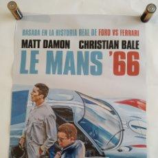 Cine: PÓSTER DE LA PELÍCULA 68CM X 48CM LE MANS 66, MATT DAMON, CHRISTIAN BALE, FORD VS FERRARI. Lote 219417098