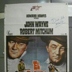 Cine: CDO 5636 EL DORADO JOHN WAYNE ROBERT MITCHUM HOWARD HAWKS POSTER ORIGINAL 70X100 ESPAÑOL R-76. Lote 219417540