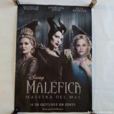 Cine: PÓSTER DE LA PELÍCULA 68CM X 48CM MALÉFICA, DISNEY, ANGELINA JOLIE, MICHELLE PFEIFFER, ELLE FANNING. Lote 219424711
