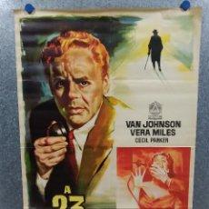 Cine: A 23 PASOS DE BAKER STREET. VAN JOHNSON, VERA MILES, CECIL PARKER. AÑO 1961. POSTER ORIGINAL. Lote 219433926