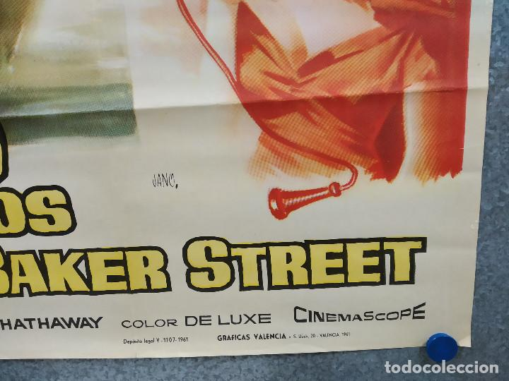 Cine: A 23 pasos de Baker Street. Van Johnson, Vera Miles, Cecil Parker. AÑO 1961. POSTER ORIGINAL - Foto 4 - 219433926