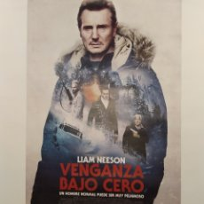 Cine: PÓSTER DE LA PELÍCULA 98CM X 68CM VENGANZA BAJO CERO, HANS PETTER MOLAND, LIAM NEESON, LAURA DERN. Lote 219446658