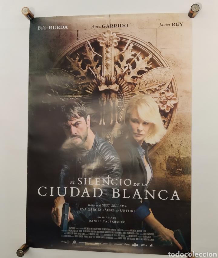 PÓSTER DE LA PELÍCULA 98CM X 68CM A EL SILENCIO DE LA CIUDAD BLANCA, DANIEL CALPARSORO, BELÉN RUEDA (Cine - Posters y Carteles - Acción)