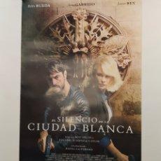Cine: PÓSTER DE LA PELÍCULA 98CM X 68CM A EL SILENCIO DE LA CIUDAD BLANCA, DANIEL CALPARSORO, BELÉN RUEDA. Lote 219447186