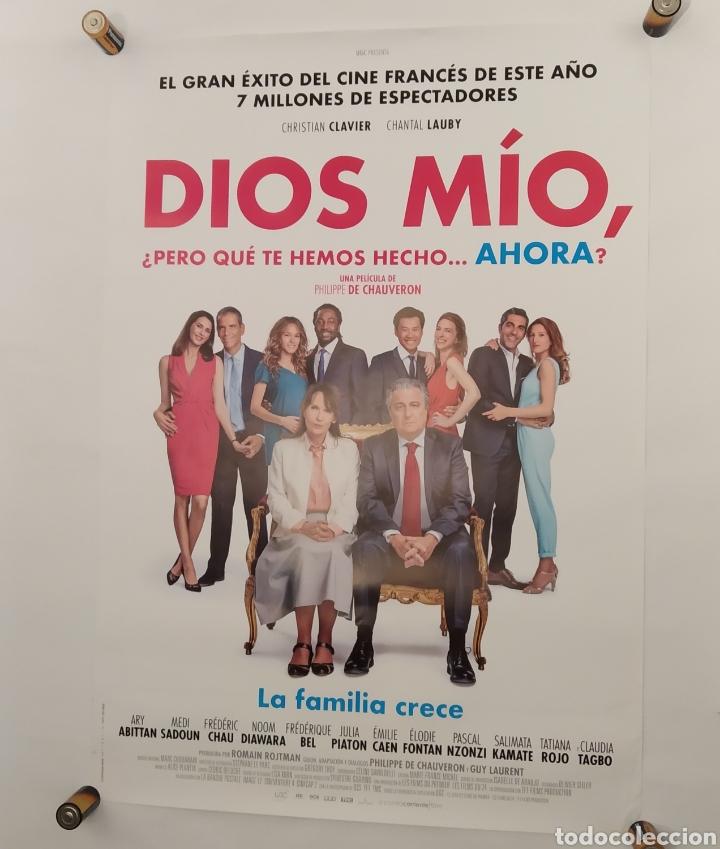 PÓSTER DE LA PELÍCULA 98CM X 68CM DIOS MIO ¿PERO QUE TE HEMOS HECHO? CHRISTIAN CLAVIER, P. CHAUVERON (Cine - Posters y Carteles - Acción)