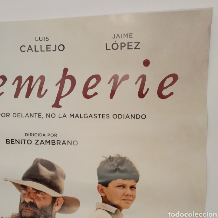 Cine: Póster de la película 98cm x 68cm INTEMPERIE, Benito Zambrano, Luis Tosar, Luis Callejo, Jaime López - Foto 4 - 219448013