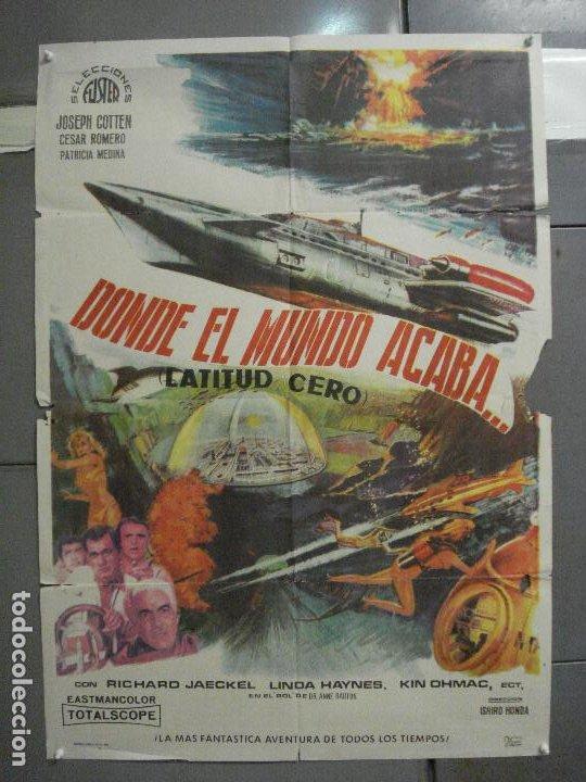 CDO 5664 DONDE EL MUNDO ACABA ISHIRO HONDA TOHO SCI-FI POSTER ORIGINAL 70X100 DEL ESTRENO (Cine - Posters y Carteles - Ciencia Ficción)