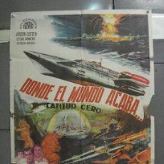 Cine: CDO 5664 DONDE EL MUNDO ACABA ISHIRO HONDA TOHO SCI-FI POSTER ORIGINAL 70X100 DEL ESTRENO. Lote 219520215