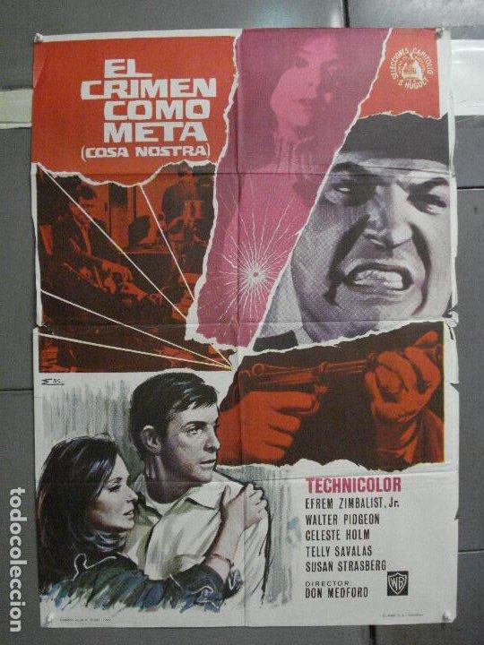 CDO 5668 EL CRIMEN COMO META EFREM ZIMBALIST WALTER PIDGEON POSTER ORIGINAL 70X100 ESTRENO (Cine - Posters y Carteles - Suspense)
