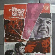 Cine: CDO 5668 EL CRIMEN COMO META EFREM ZIMBALIST WALTER PIDGEON POSTER ORIGINAL 70X100 ESTRENO. Lote 219522721