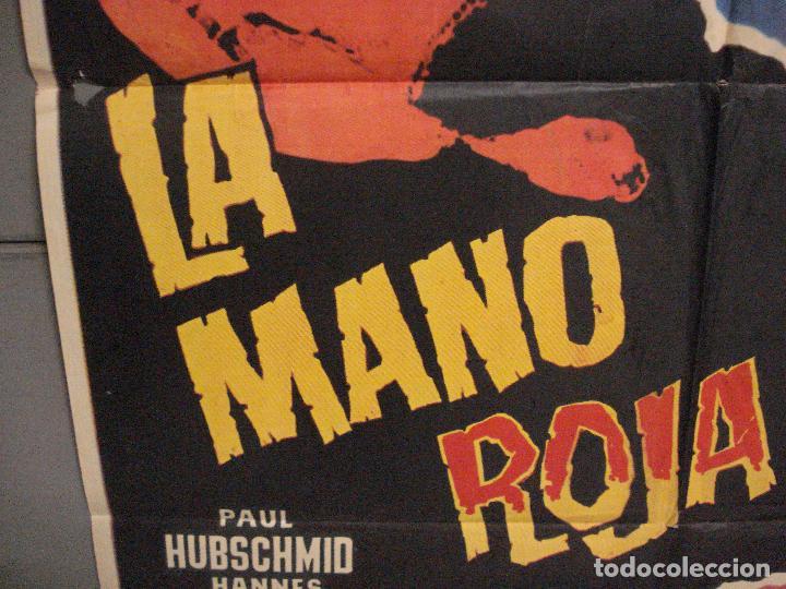 Cine: CDO 5680 LA MANO ROJA PAUL HUBSCHMID ELEANORA ROSSI-DRAGO POSTER ORIGINAL ESPAÑOL 70X100 ESTRENO - Foto 4 - 219530331