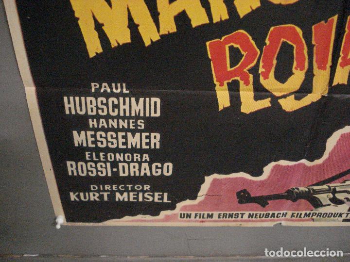 Cine: CDO 5680 LA MANO ROJA PAUL HUBSCHMID ELEANORA ROSSI-DRAGO POSTER ORIGINAL ESPAÑOL 70X100 ESTRENO - Foto 5 - 219530331