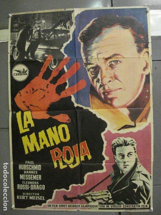 CDO 5680 LA MANO ROJA PAUL HUBSCHMID ELEANORA ROSSI-DRAGO POSTER ORIGINAL ESPAÑOL 70X100 ESTRENO (Cine - Posters y Carteles - Acción)
