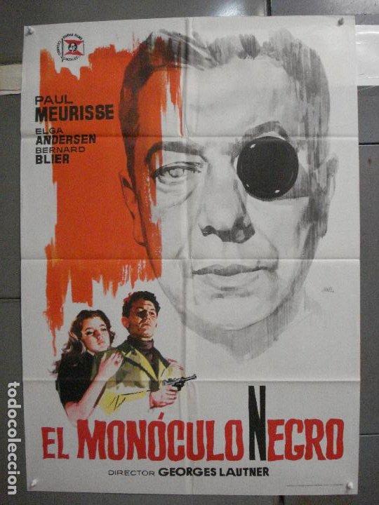 CDO 5688 EL MONOCULO NEGRO PAUL MEURISSE JANO POSTER ORIGINAL 70X100 ESTRENO (Cine - Posters y Carteles - Suspense)