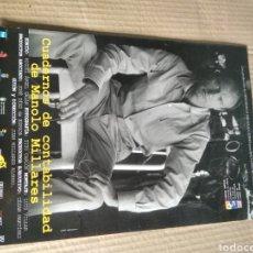 Cine: CARTEL DE CINE CUADERNOS DE CONTABILIDAD DE MANOLO MILLARES. Lote 219623923
