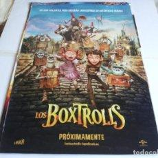 Cine: LOS BOXTROLLS - ANIMACION - CARTEL ORIGINAL UNIVERSAL AÑO 2014. Lote 219645441