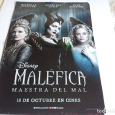 Cine: MALÉFICA MAESTRA DEL MAL - ANGELINA JOLIE, MICHELLE PFEIFFER - CARTEL ORIGINAL DISNEY AÑO 2019. Lote 219646322