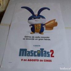 Cine: MASCOTAS 2 - ANIMACIÓN - CARTEL ORIGINAL UNIVERSAL AÑO 2019 MOD 2. Lote 219647225