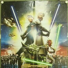 Cine: HO33D STAR WARS THE CLONE WARS GEORGE LUCAS POSTER ORIGINAL 100X140 ITALIANO. Lote 259994315