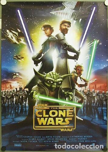 E280D STAR WARS THE CLONE WARS GEORGE LUCAS POSTER ORIGINAL 68X97 ITALIANO (Cine - Posters y Carteles - Ciencia Ficción)