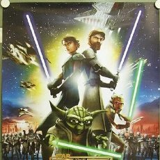Cine: E280D STAR WARS THE CLONE WARS GEORGE LUCAS POSTER ORIGINAL 68X97 ITALIANO. Lote 238160820