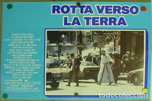 DD62D STAR TREK 4 MISION SALVAR LA TIERRA WILLIAM SHATNER NIMOY SET 6 POSTER ORIGINAL ITALIANO 47X68 (Cine - Posters y Carteles - Ciencia Ficción)