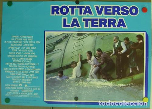 Cine: DD62D STAR TREK 4 MISION SALVAR LA TIERRA WILLIAM SHATNER NIMOY SET 6 POSTER ORIGINAL ITALIANO 47X68 - Foto 3 - 219749261
