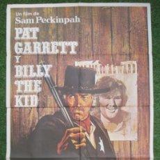 Cine: CARTEL CINE, PAT GARRETT Y BILLY THE KID, JAMES COBURN, BOB DYLAN, 1973, C880. Lote 219840965