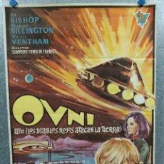 Cinema: OVNI UFO, LOS DIABLOS ROJOS ATACAN LA TIERRA ED BISHOP, MICHAEL BILLINGTON AÑO 1974. POSTER ORIGINAL. Lote 236296785