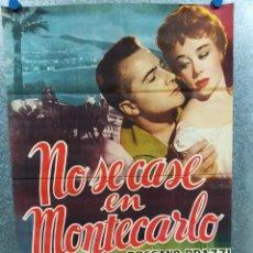 Cine: NO SE CASE EN MONTECARLO. ROSSANO BRAZZI, GLYNIS JOHNS. POSTER ORIGINAL. Lote 219855576