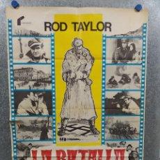 Cinema: LA BATALLA DE BELGRADO. ROD TAYLOR, ADAM WEST. AÑO 1974. POSTER ORIGINAL. Lote 219874413