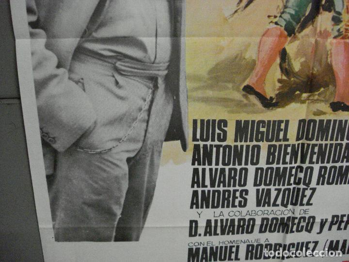 Cine: CDO 5721 YO HE VISTO LA MUERTE LUIS MIGUEL DOMINGUIN FORQUE TOROS POSTER ORIGINAL 70X100 ESTRENO - Foto 4 - 219888443