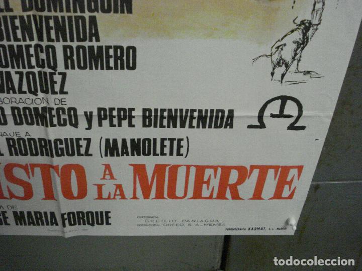 Cine: CDO 5721 YO HE VISTO LA MUERTE LUIS MIGUEL DOMINGUIN FORQUE TOROS POSTER ORIGINAL 70X100 ESTRENO - Foto 9 - 219888443