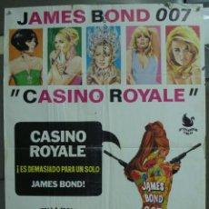 Cine: AAE19D CASINO ROYALE JAMES BOND 007 WOODY ALLEN PETER SELLERS JANO POSTER ORIGINAL 70X100 ESTRENO. Lote 219902896