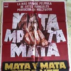 Cine: MATA Y MATA OTRA VEZ. CARTEL ORIGINAL. IVAN HALL, JAMES RYAN, ANNELINE KRIEL, MICHAEL MAYER. Lote 219980995