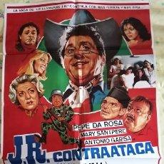 Cine: J.R. CONTRAATACA (LA DINASTIA DE J.R.). CARTEL ORIGINAL. FRANCISCO LARA POLOP, PEPE DA ROSA. Lote 219985312
