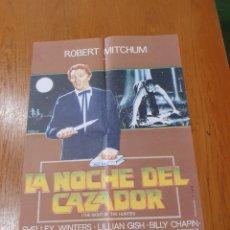 Cine: LA NOCHE DEL CAZADOR, CARTEL EDICIÓN LIMITADA NUMERADA DE 66X47 CM.. Lote 219985516