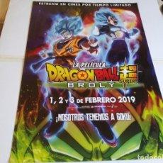 Cine: DRAGON BALL SUPER BROLY - ANIMACION - CARTEL ORIGINAL SELECTA VISION AÑO 2018. Lote 220065282