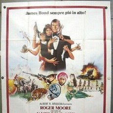 Cine: OI95D OCTOPUSSY JAMES BOND 007 ROGER MOORE POSTER ORIGINAL ITALIANO 140X200. Lote 220068027