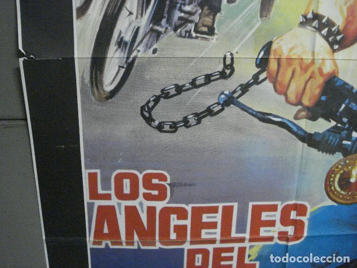 Cine: CDO 5781 LOS ANGELES DEL INFIERNO ROGER CORMAN PETER FONDA POSTER ORIGINAL 70X100 ESPAÑOL - Foto 4 - 220098022