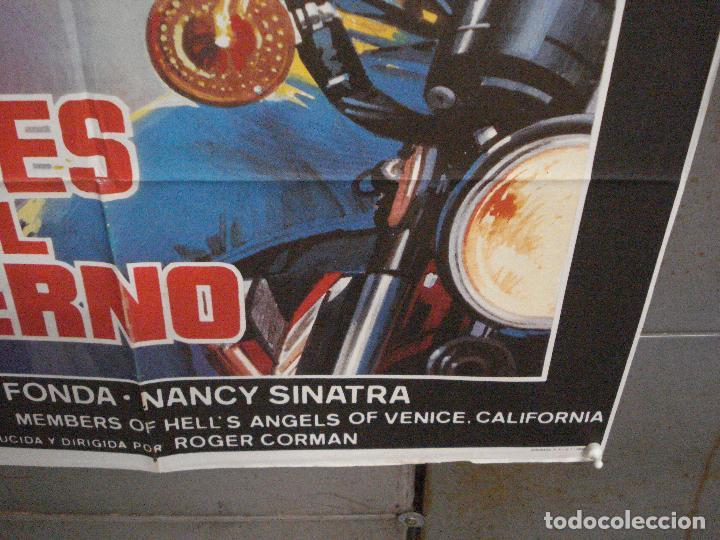 Cine: CDO 5781 LOS ANGELES DEL INFIERNO ROGER CORMAN PETER FONDA POSTER ORIGINAL 70X100 ESPAÑOL - Foto 9 - 220098022