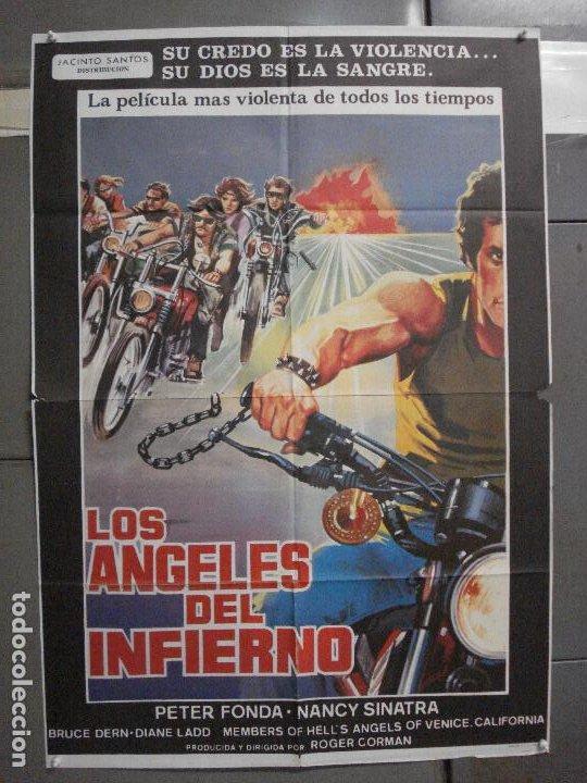 CDO 5781 LOS ANGELES DEL INFIERNO ROGER CORMAN PETER FONDA POSTER ORIGINAL 70X100 ESPAÑOL (Cine - Posters y Carteles - Acción)